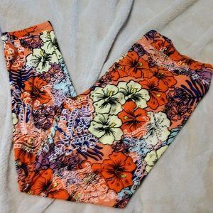 LuLaRoE NEW Floral TC2(18-24) Leggings